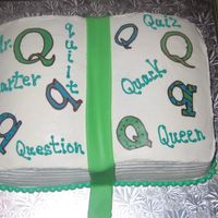 "Q And U Grooms Cake Q and U kindergarten wedding ( this was the ""grooms cake"" )"