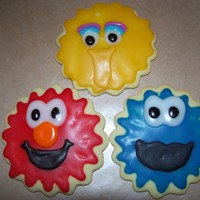 Sesame Street Cookies Fun cookies to make. My own sugar cookie recipe with Toba's icing. Yummy!