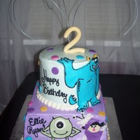 Monster's Inc. WASC, buttercream, fondant
