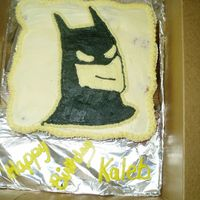 Batman Cake This is a cupcake cake (my first), w/ a BCT of Batman.
