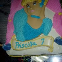 Princess Cake I made this for my daughters B-Day today.