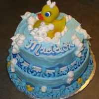 Rubber Ducky Baby Shower Cake I made this for a friends baby shower. It turned out okay.