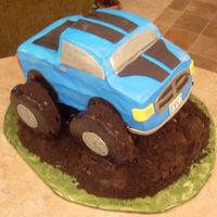Ty's Monster Truck Cake Ty wanted a monster truck cake for his 5th birthday :)