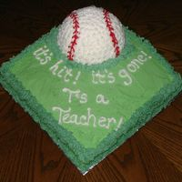 Softball Cake My 11 y/o daughter made this cake for her substitute teacher 'Mr. T' for his last day at their school. She did a really awesome...