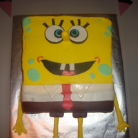 Spongebob Spongebob with fondant accents.