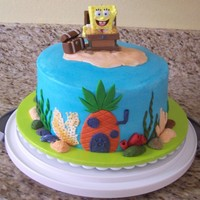 Sponge Bob bc with fondant accents ...