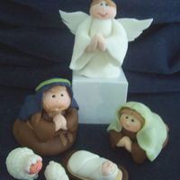 Nativity fondant figurines