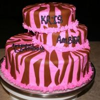 Birthday Cake   Zebra, offset cake