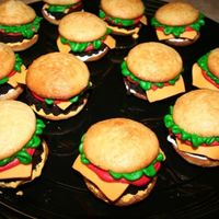 Fake Burgers   Fake Burgers. We had fun making these. I got the idea from this site!