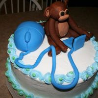 Monkey Cake  Birthday cake. This guy loves computers but was born in the year of the Monkey so his wife wanted me to make a monkey. It turned out pretty...