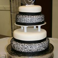 Wedding Cake Black and white wedding cake. Fondant covered.