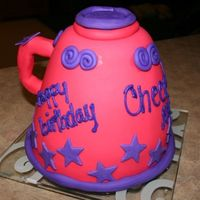 Megaphone Cake   Cheer! megaphone cake, kinda fat but maybe i can make it skinnier next time!