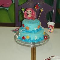 Under The Sea This is my version of BJFRANKO'S mermaid cake. Thank you for such an awsome inspriation! My neice's 6th birthday. Vanilla cake...