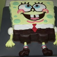 Spongebob This cake was made for a little girl who loves SpongeBob. She was so enthusiastic about the cake that it wasn´t cut. They put it...