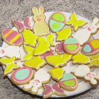 Easter Cookies My Easter cookies decorated with Antonias icing.
