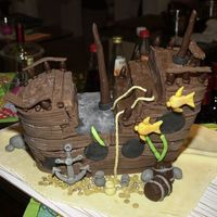Sunken Treasure This was the birthday cake for my BIL. He told me once that when he were a little boy he adored pirate ships but never got one. So now he...