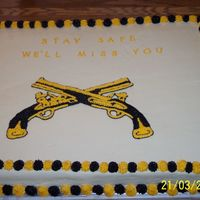 Mp Deployment To Afghanistan  I made this cake for the farewell party for my husbands unit when they went to Afghanistan. It's a full sheet cake. This is not a BCT...