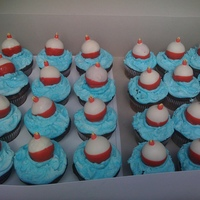 Cupcakes With Cake Ball Bobbers My grandson really wanted a fishing theme for his 7th birthday classroom celebration. I made triple chocolate cupcakes with buttercream &...