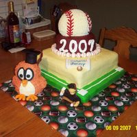 Baseball Graduation Cake This picture should be a little clearer. Sorry the first one I uploaded was notclear at all.