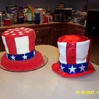 Patriotic Uncle Sam Hat Cake