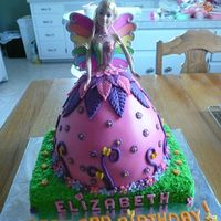 Fairytopia Barbie Doll Birthday Cake