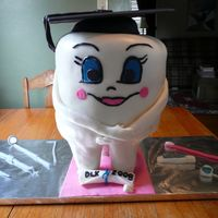 Dental Graduation Tooth Cake