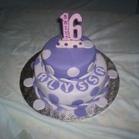 Alyssa Sweet 16 chocolate cake with chocolate buttercream filling; covered with fondant ;Alyssa's favorite colors are purple, mauve, lilac and she is...