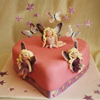 Wings White choc mud cake with marshmallow buttercream filling. All decs & models are fondant. TFL