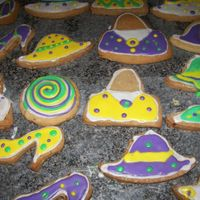 Mardi Gras Cookies Pecan Shortbread Cookies for a co-workers retirement party.