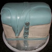 Replica Of A Liz Claiborne Purse   Butter Recipe Cake with Cream Cheese Icing. Not too please with fondant. Had lots of air bubbles.