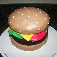 1St Cheeseburger Cake I was very pleased with my first attempt at this cake. Have diffculty with stacking cake, but figured it to best of knowledge. Not to...