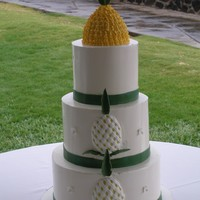Pineapple Wedding Cake