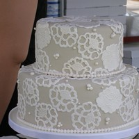 Lace And Pearls Cake