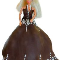 Designer Barbie chocolate fondant with royal accents