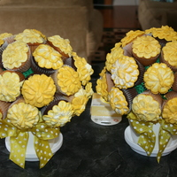 50Th Wedding Anniversary Cupcake Bouquets