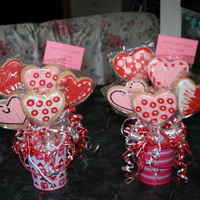 Valentine Cookie Bouquets NFSC and Antonia Royal Icing