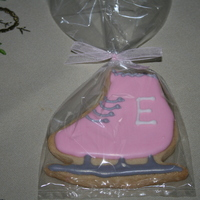 Girl's 7Th Birthday Ice Skate Cookies NFSC and Antonia's Royal Icing