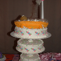 Baby In Tub Baby Shower Cake