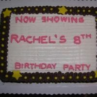 Marquee Cake Coworkers daughter had a Movie Theme Birthday Party. The cake was usppose to look like an old fashioned marquee sign.