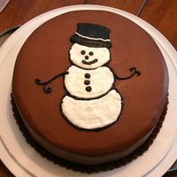 Snowman Cake My mom asked me to make her a Christmas cake. She said she wanted the cake to be devil's food and a snowman on the top. This is what I...