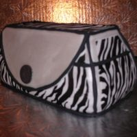 Rhonda Adkins' Purse Cake I made Trace Adkins' wife's birthday cake...a zebra print purse! Devils Food cake with vanilla buttercream, covered with fondant...