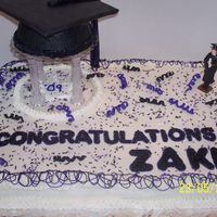 Zakk's Graduation This cake was for a home school graduation. Their colors were black & purple. The graduate loved it