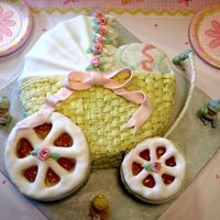 Baby Carriage My first cake ever, before the first class. I bought a basketweave tip and a plastic bag. First time I touched fondant. It has its flaws,...