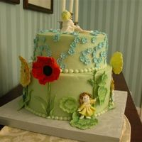 Rainbow Rhymes Cake View 1 bc cake with fondant accents
