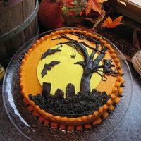 Halloween Party I saw one on Cake central like this and loved it! Cinnamon BC with Chai Spice cake and fondant accents.