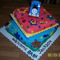Baby Shower Thomas The Train thomas the train on fondant cake