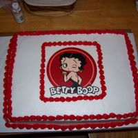 Betty Boop I made this cake for my mom's 55th birthday. She is a fan of Betty Boop so she loved the cake. I had to make two cakes on that weekend...