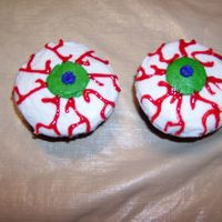 Eyeballs These are the cupcakes that I made for my nieces halloween party.