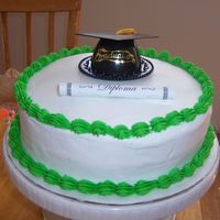 Kindergarten Graduation. This is one of the cakes that I made for my nephew's kindergarten graduation.