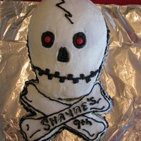Shayne's Skull Cake I made this for my son's 9th birthday. He loved it. THanks for looking
